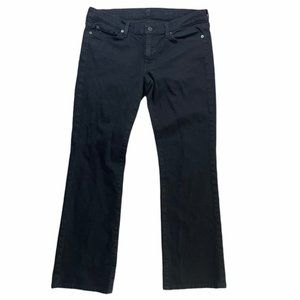 7 FOR ALL MANKIND Black Bootcut Jeans Size 32 EUC